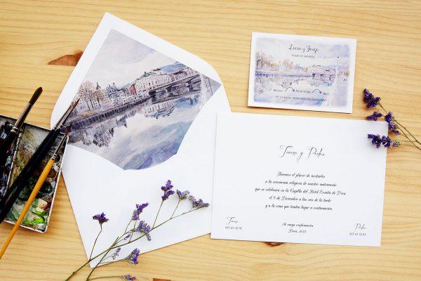 Invitación de boda Bilbao