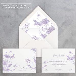 Invitación de boda Botánica