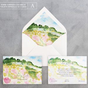 Invitación de boda Campiña