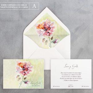Invitación de boda Dalia