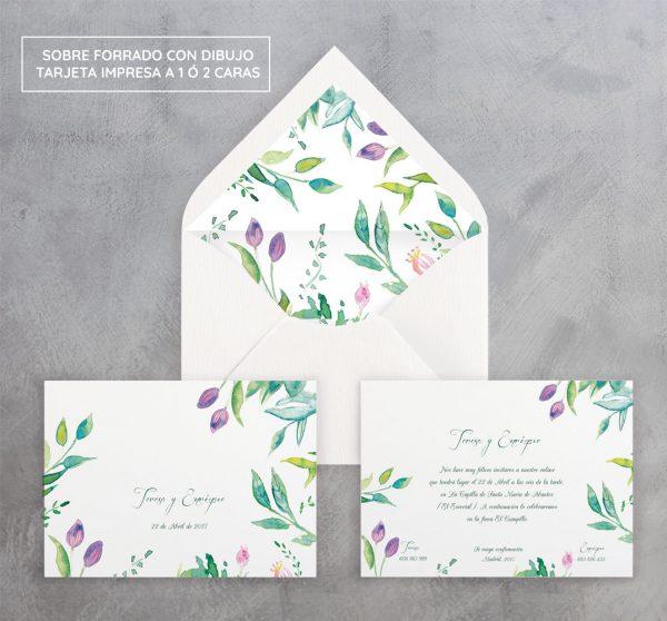 Invitación de boda Edén