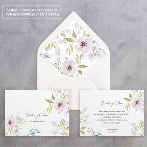 Invitación de boda Fleur d'amor