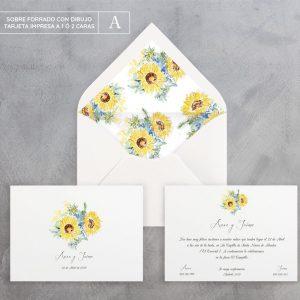 Invitación de boda Girasoles