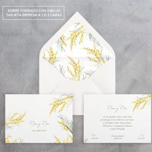 Invitación de boda Mimosas