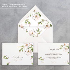 Invitación de boda Spring