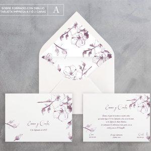 Invitación de boda Spring Monocromo