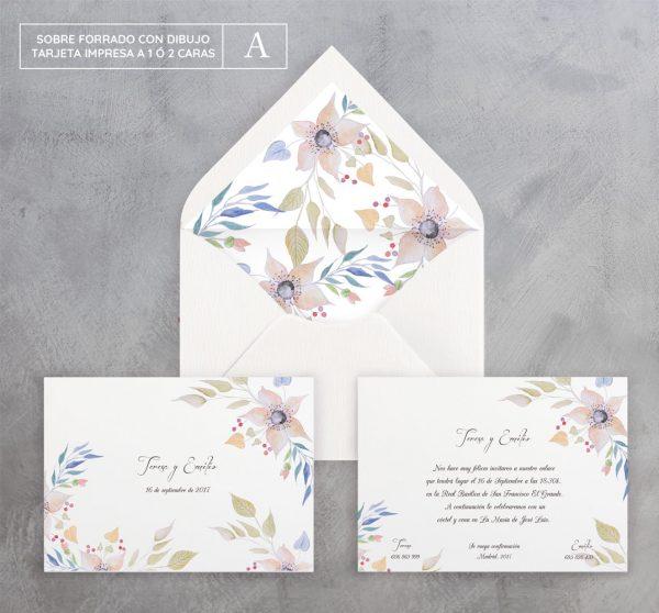 Invitación de boda Sutil