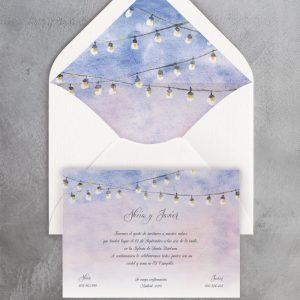 Invitación de boda Verbena