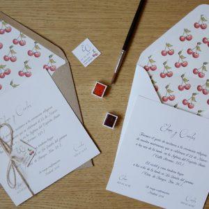 Invitación de boda Cherry