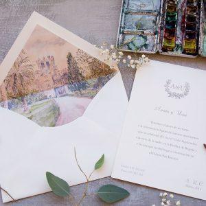 Invitación de boda Castillo de Butron