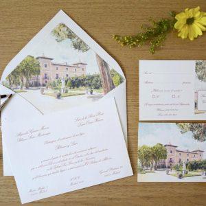 Invitación de boda Palacio de Aldovea