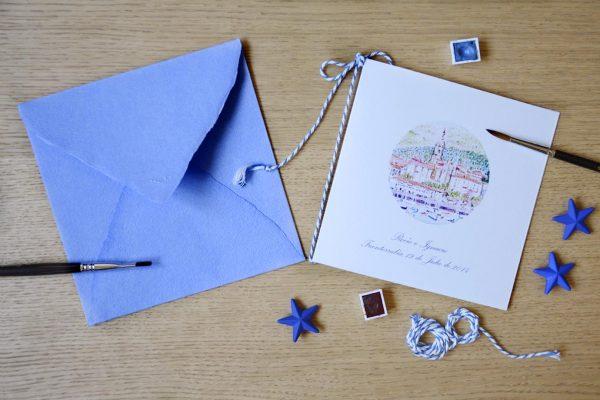 Invitación de boda Hondarribia