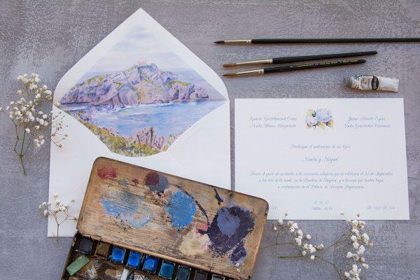 Invitación de boda San Juan de Gaztelugatxe