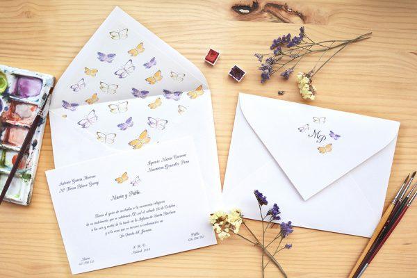 mariposas invitaciones de boda