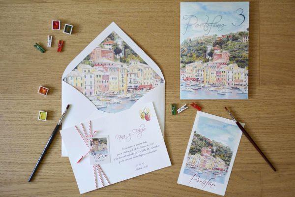 Invitación de boda Portofino