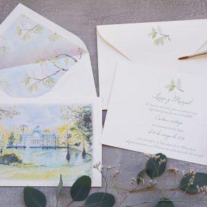 Invitación de boda Palacio de Cristal