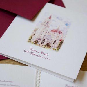 Invitación de boda Iglesia de San Manuel y San Benito